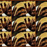Fudgy-nut Bundt cake with caramel glaze recipe (1974)