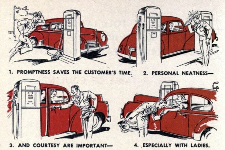 Some vintage full-service gas station tips for happy customers
