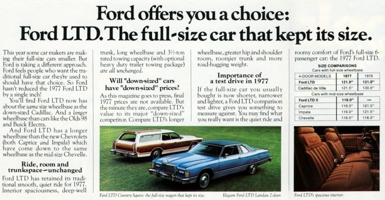 Full-size classic 1977 Ford LTD cars (1)