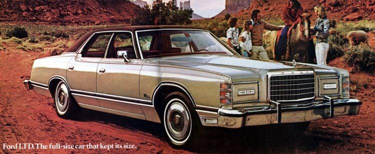 Full-size classic 1977 Ford LTD cars (2)