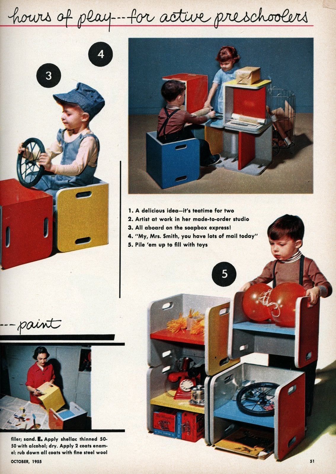 Fun DIY furniture for kids - Vintage ideas from 1955 (3)