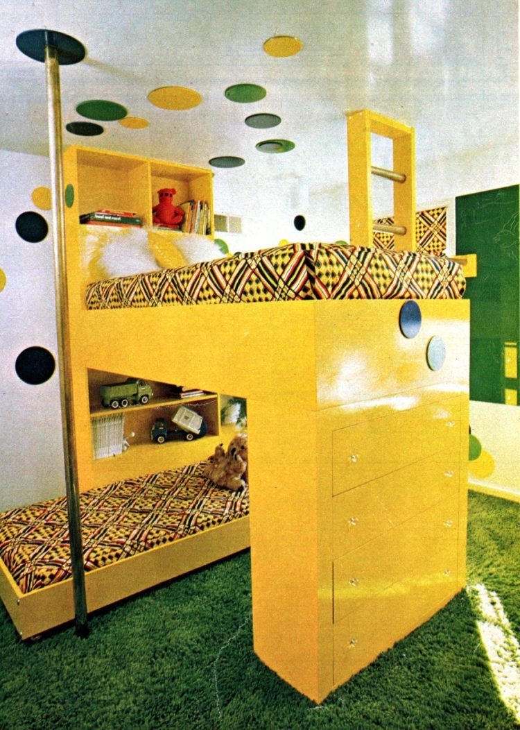 Fun furniture Make a lofty bunk bed (1976)