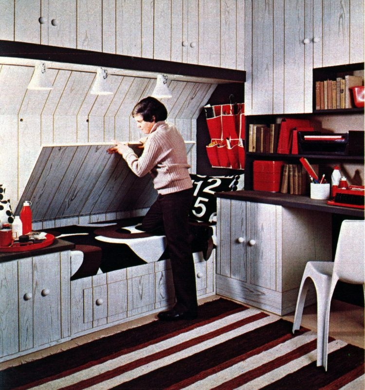 Fun furniture for kids' rooms Drop-down desk (1976)