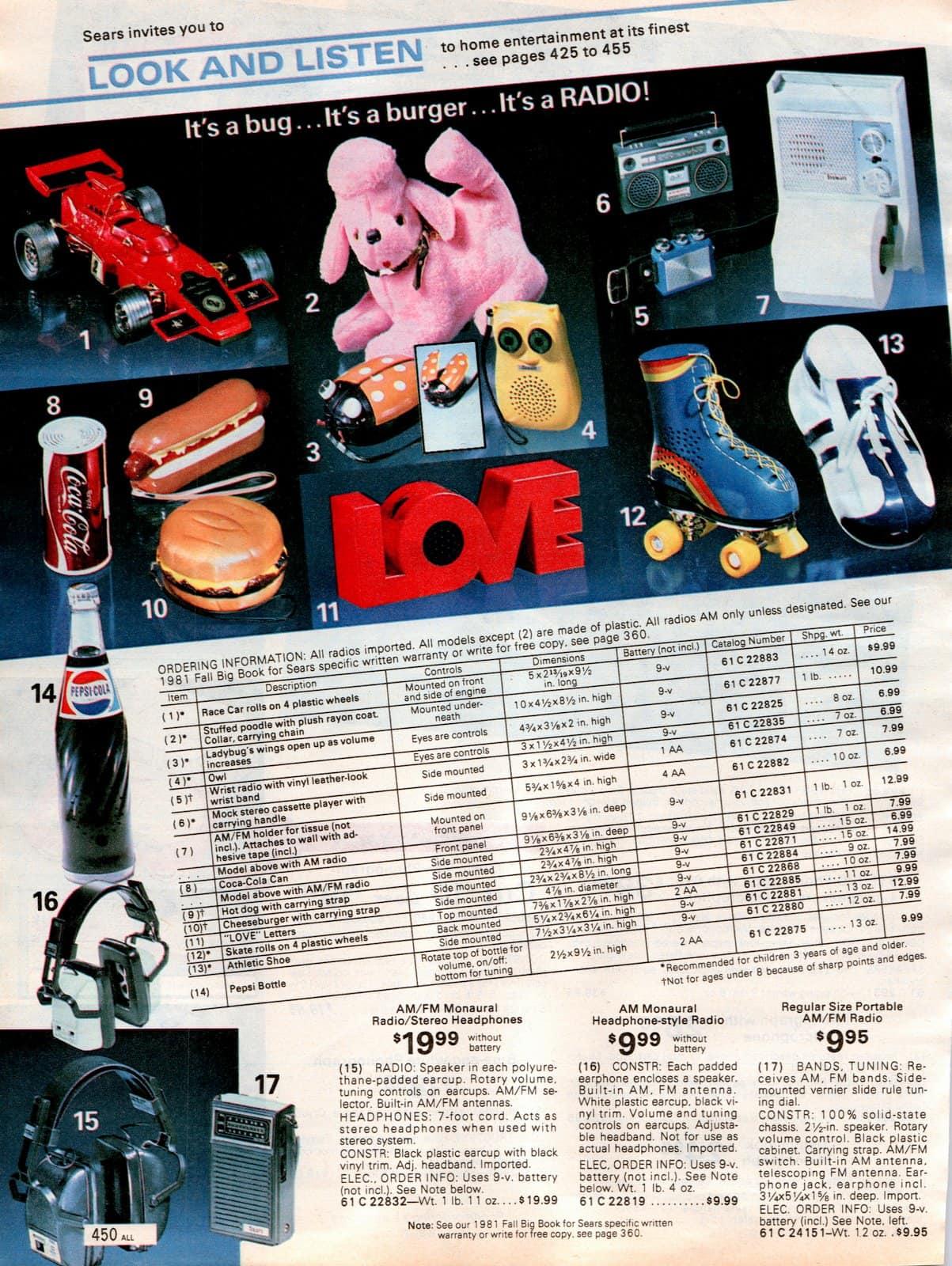 Fun novelty shaped vintage radios (1981)