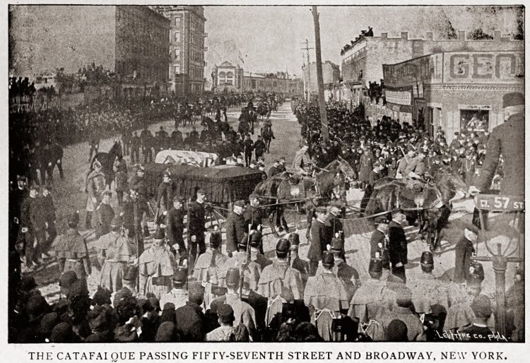 Funeral procession for General William T Sherman, New York City, February 1891