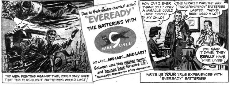 Funnies section Eveready Battery ad - The child who wouldn't drown 1952 (5)