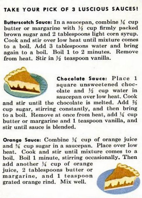 1949 Funny Cake recipe