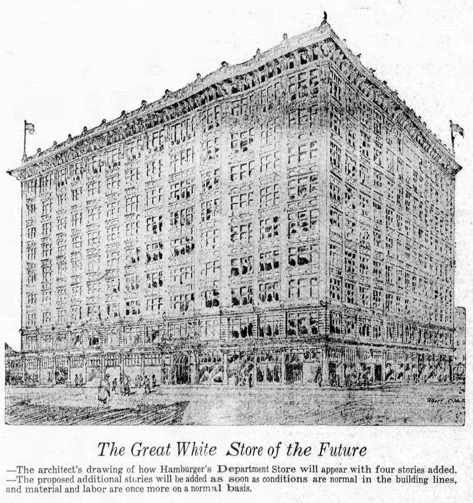 Future Hamburger Department Store - Los Angeles (1919)