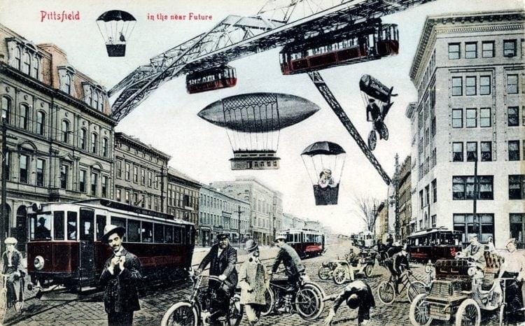 Future seen from Pittsfield Massachusetts in 1906
