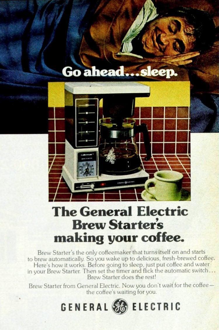 G.E. coffee maker - Brew Starter (1979)