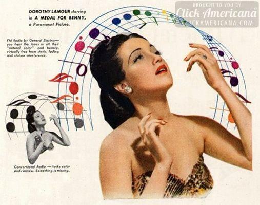 Dorothy Lamour & Dinah Shore on FM radio (1945)