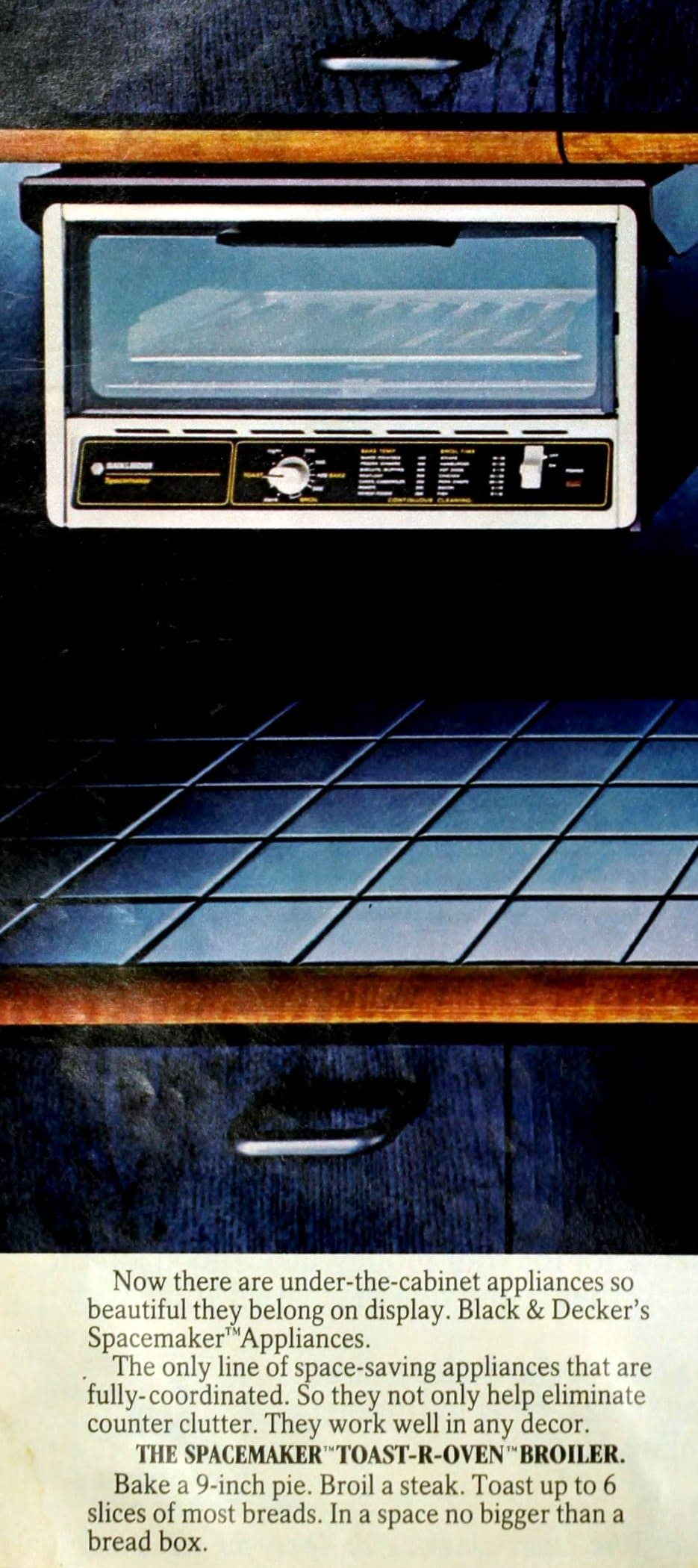 GE Spacemaker Toast-R-Oven retro toaster oven kitchen appliance (1985)