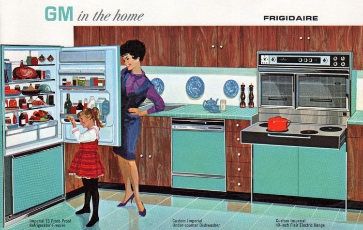 GM Frigidaire Flair electric kitchen ranges and appliances from 1965