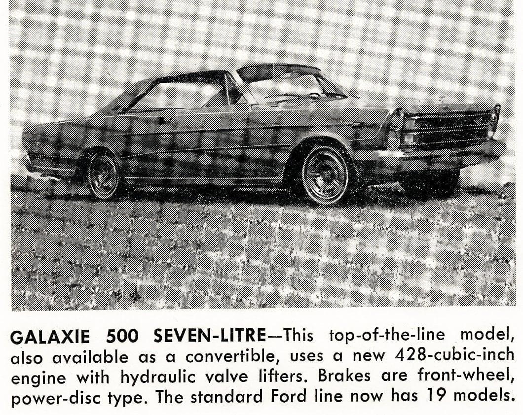 Galaxie 500 Seven-Litre -- Vintage cars (1965)