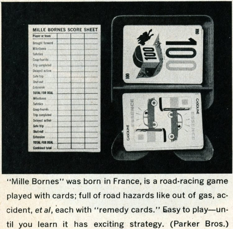 Games from the 1960s - Mille Bornes