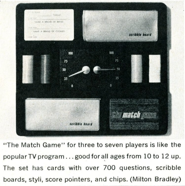 The Match Game at-home card game from the 1960s