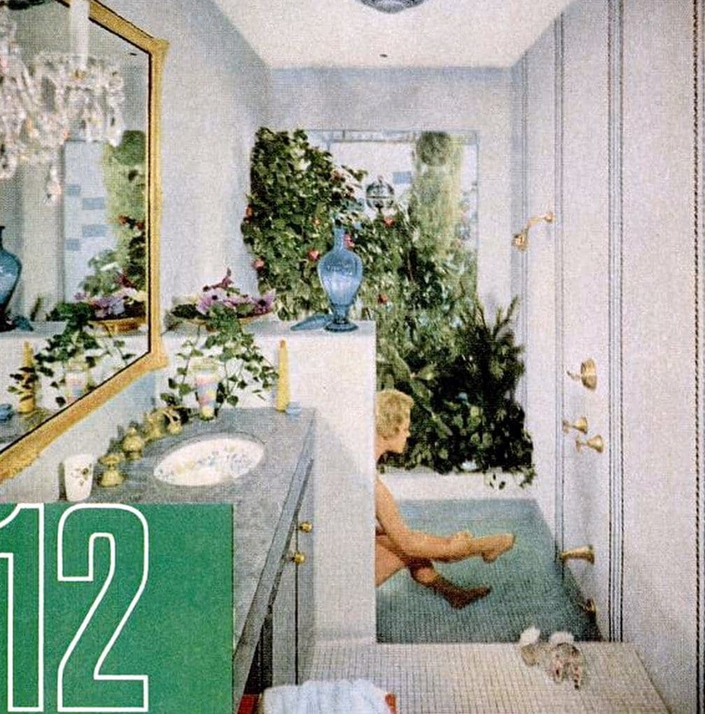 Garden style bathroom from 1960