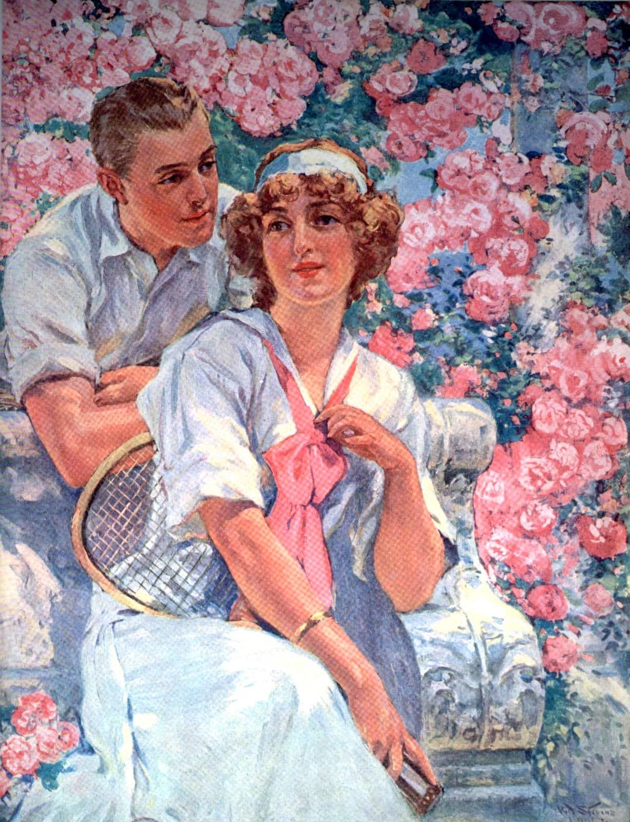 Garden tennis beauty 1912