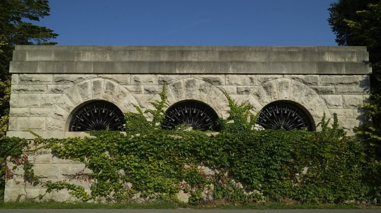 Garden wall of the George Eastman home