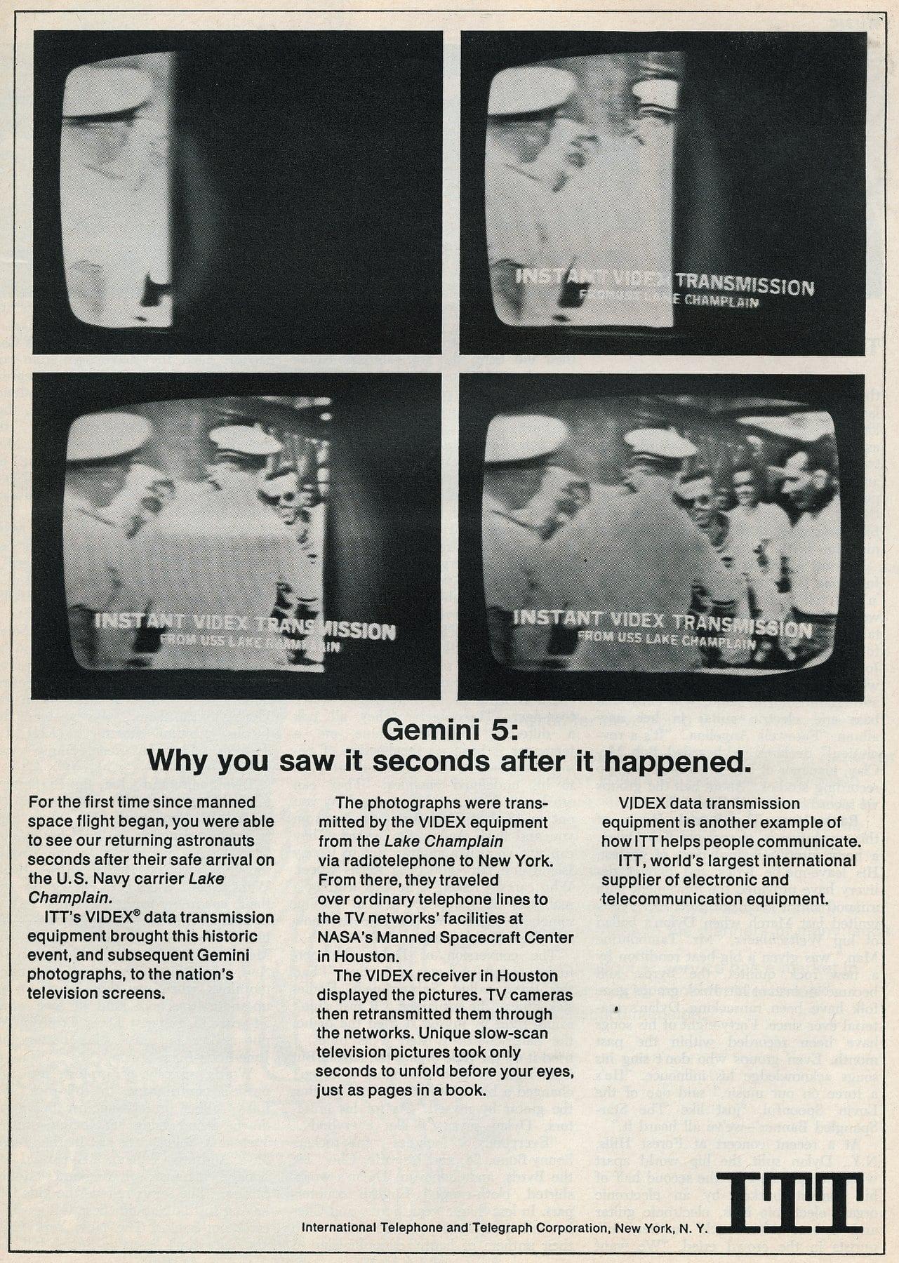 Gemini 5 on TV (1965)
