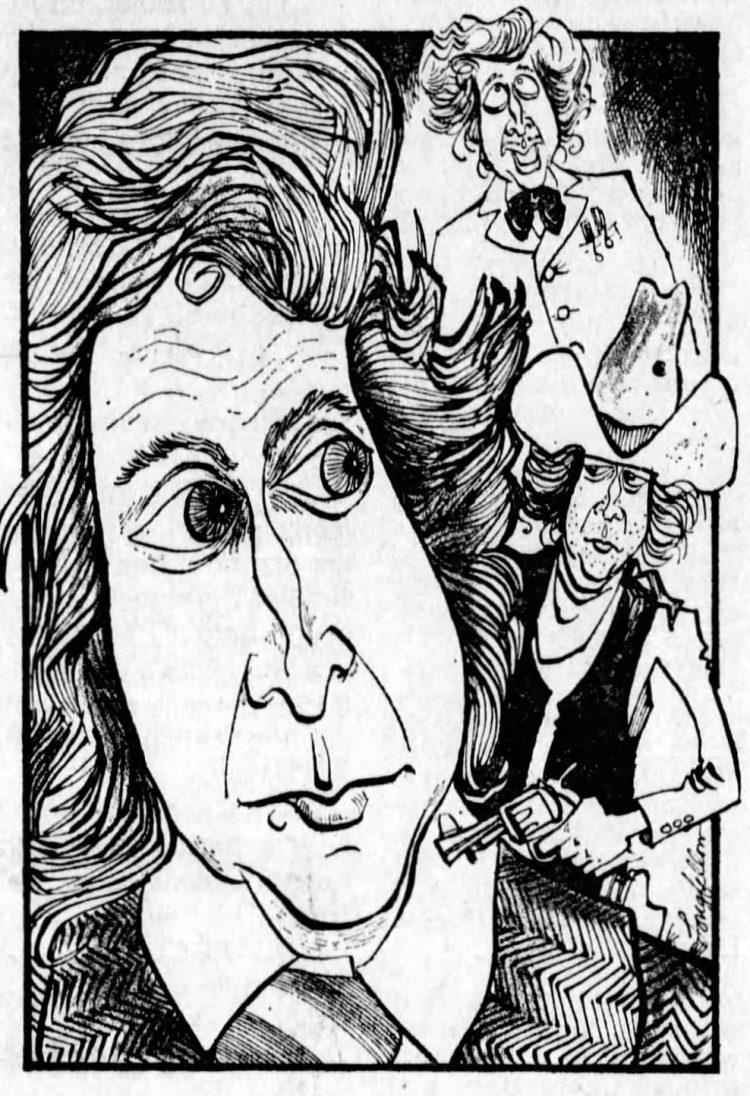 Gene WIlder caricature cartoon from 1975