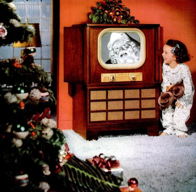 General Electric TV sets for Christmas from 1950