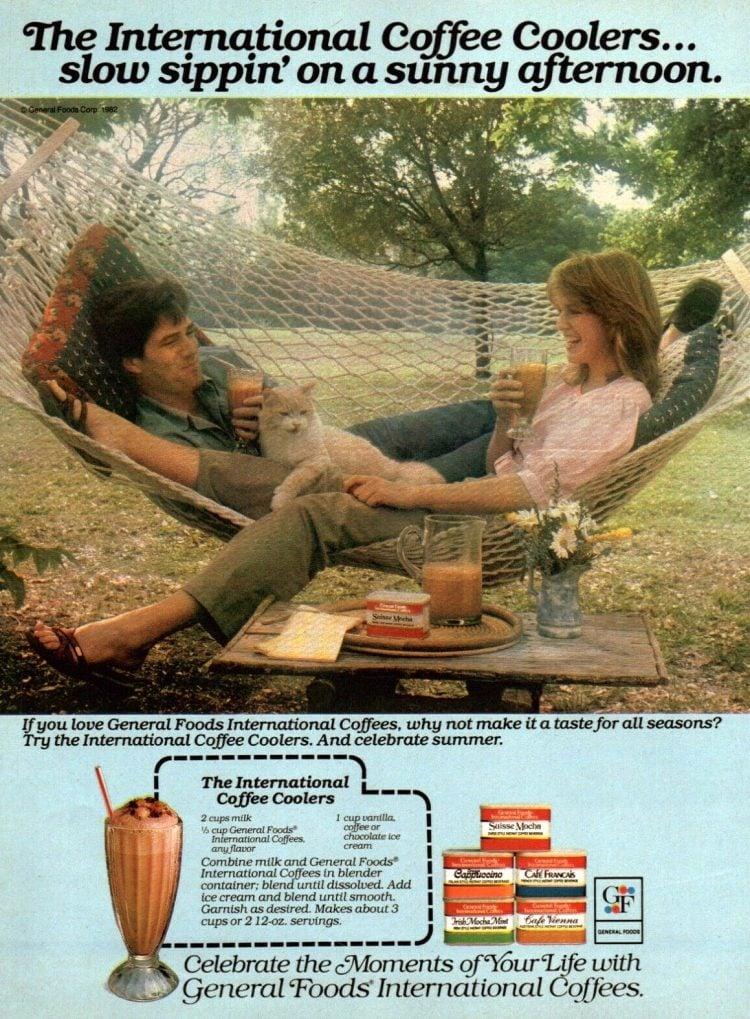 General Foods International Coffees - Suisse Mocha from 1982