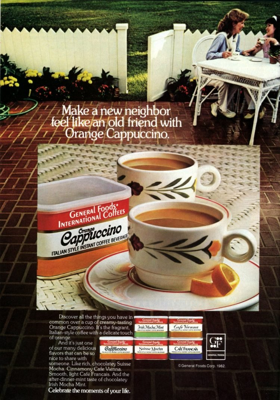 General Foods International Coffees - Vintage Orange Cappuccino (1982)