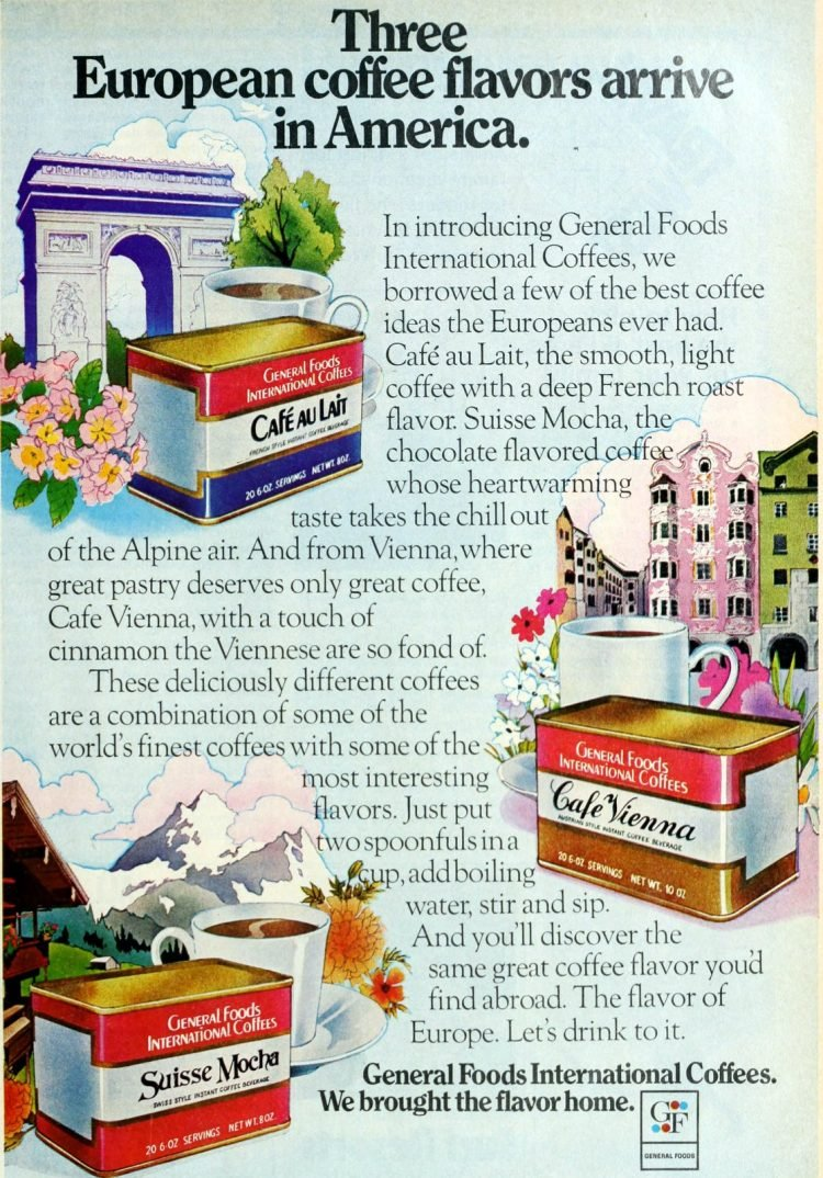 General Foods International Coffees from 1974