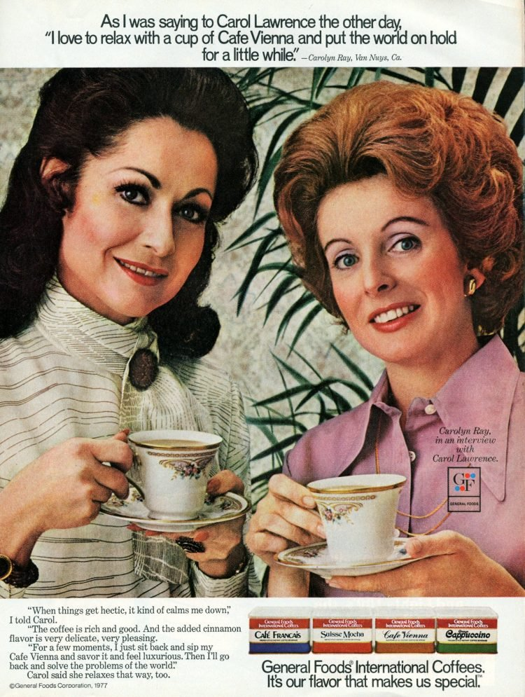 General Foods coffee mix powder from 1978 - Carol Lawrence