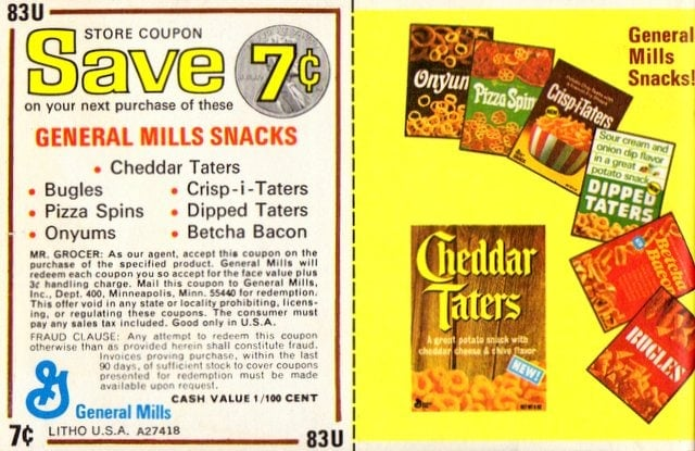 General Mills coupon from June 1973
