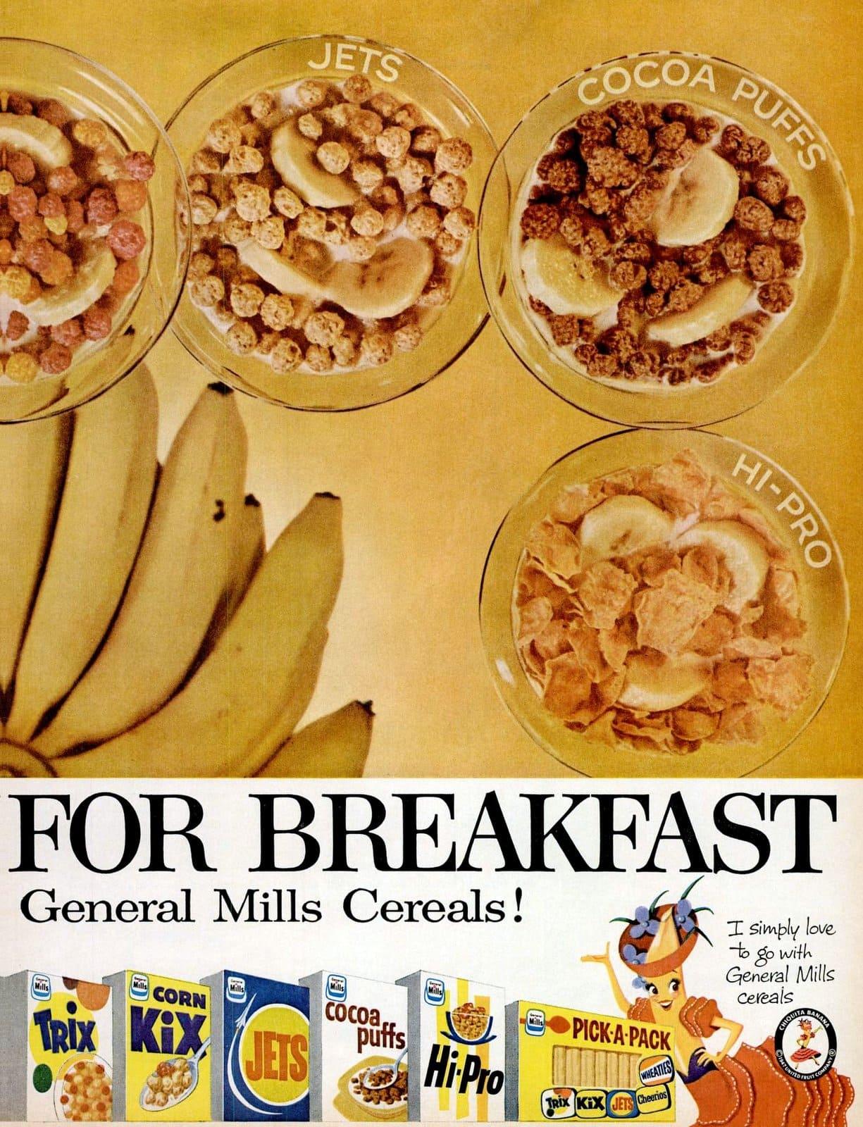General Mills vintage cereal brands in 1959 (2)