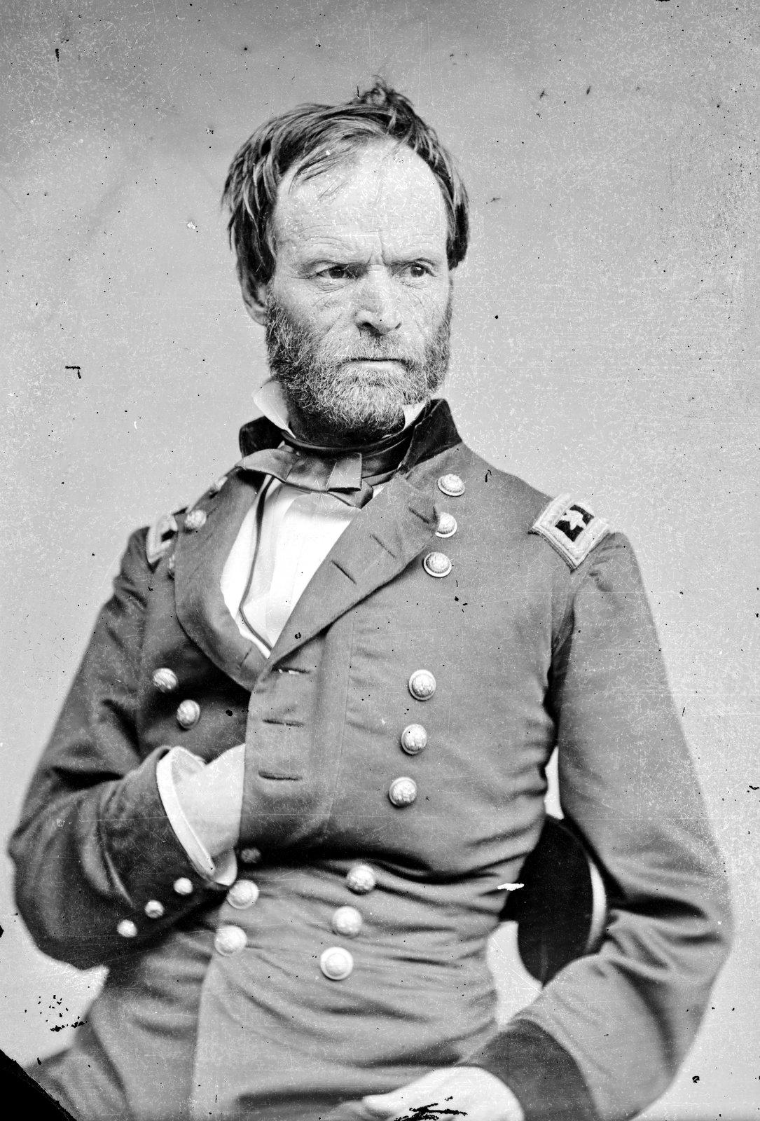 Gen. William Tecumseh Sherman portrait by Mathew Brady, c1864