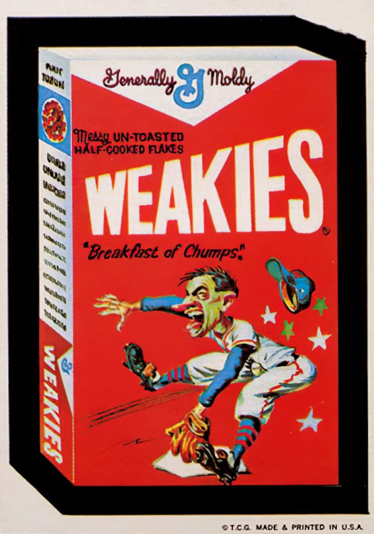 Generally Moldy Weakies cereal Wacky Packages (1970s)