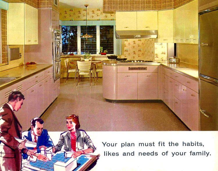 Geneva Modern Kitchens 1958 pink yellow