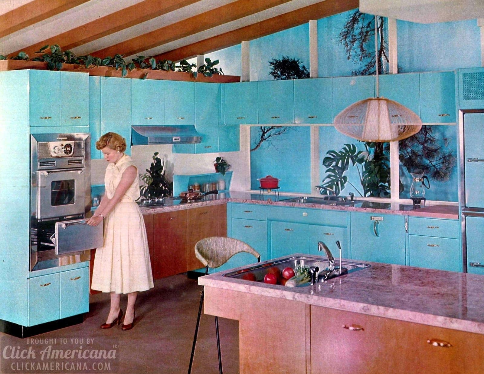 Geneva Modern Kitchens in blue from 1958