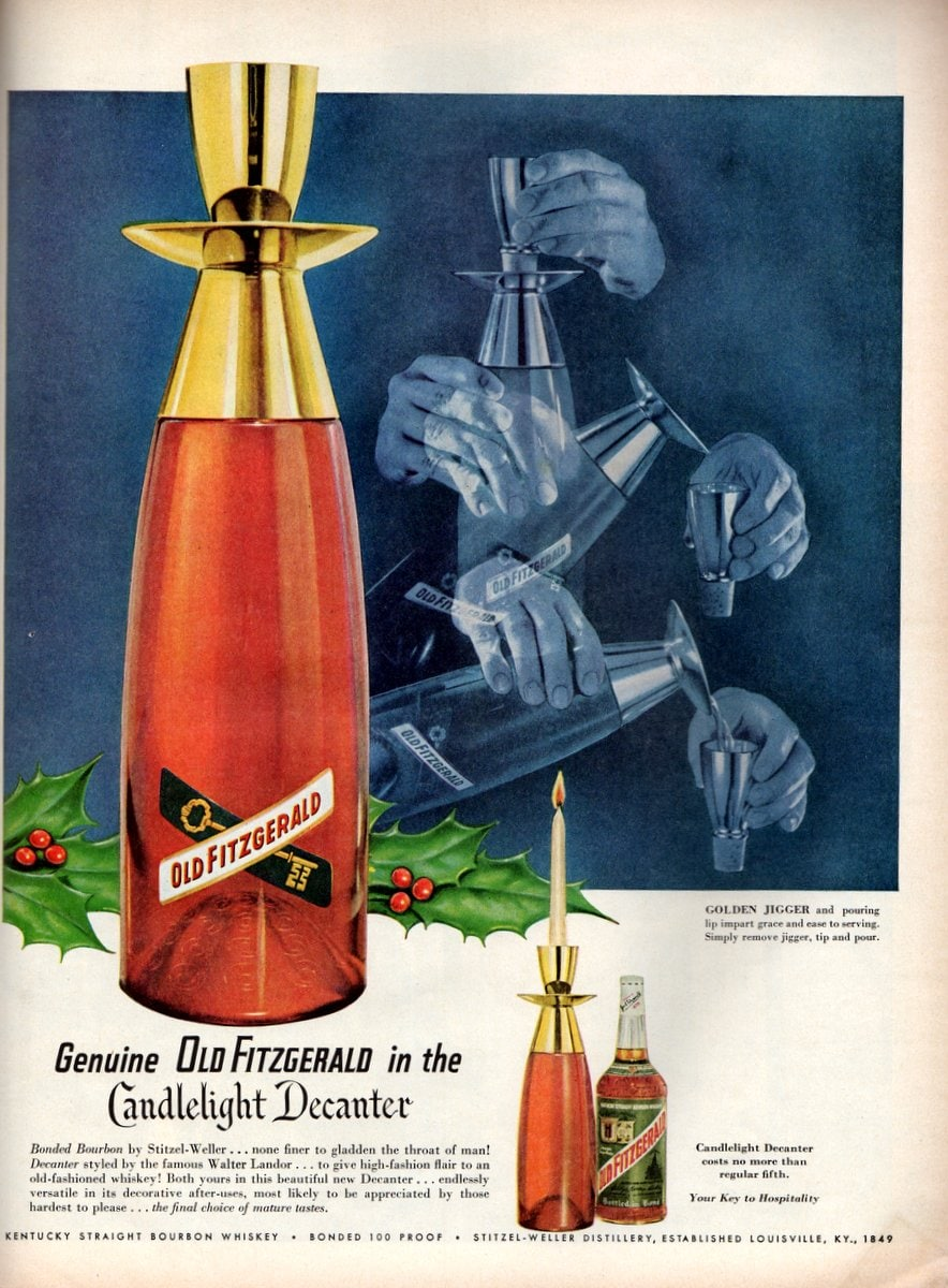 Genuine Old Fitzgerald candlelight decanter(Nov 1955)