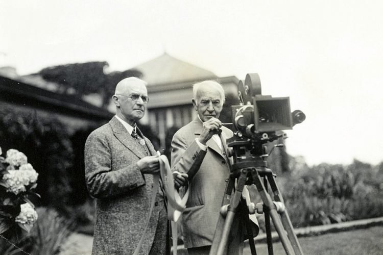 George Eastman (left) and Thomas Edison 1928