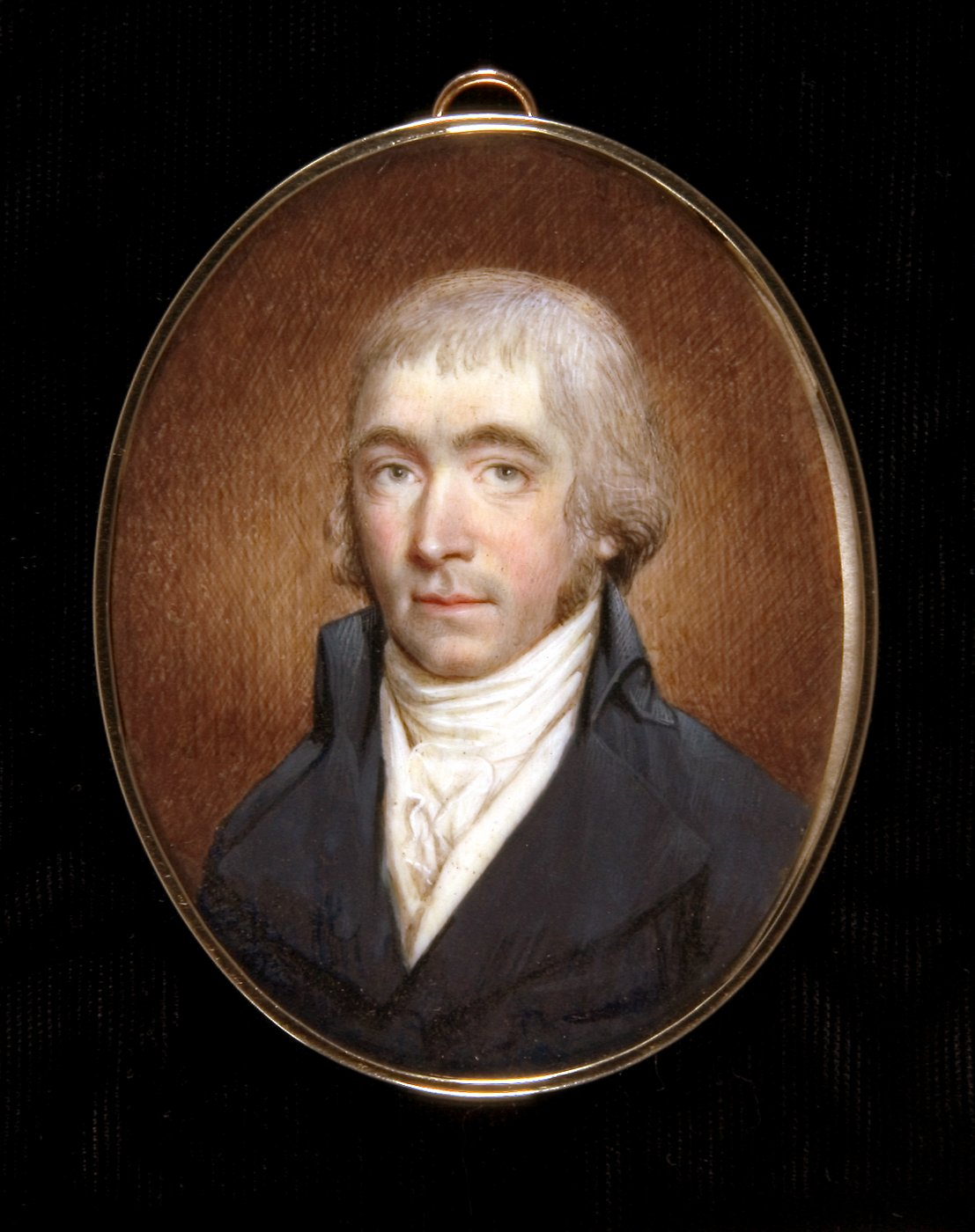 George Fisher miniature portrait by Raphaelle Peale (1795)