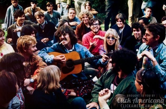 Beatle George Harrison visits San Francisco during the Summer of Love