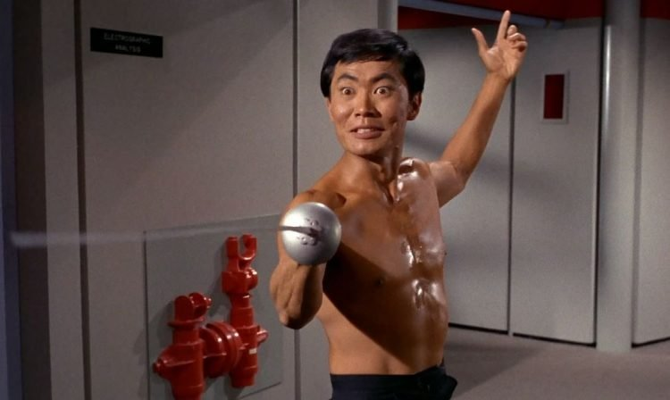 George Takei as Sulu in Star Trek - Fencing
