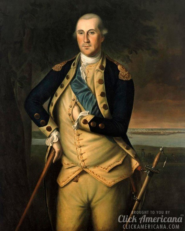 George Washington painting by Charles Willson Peale 1776