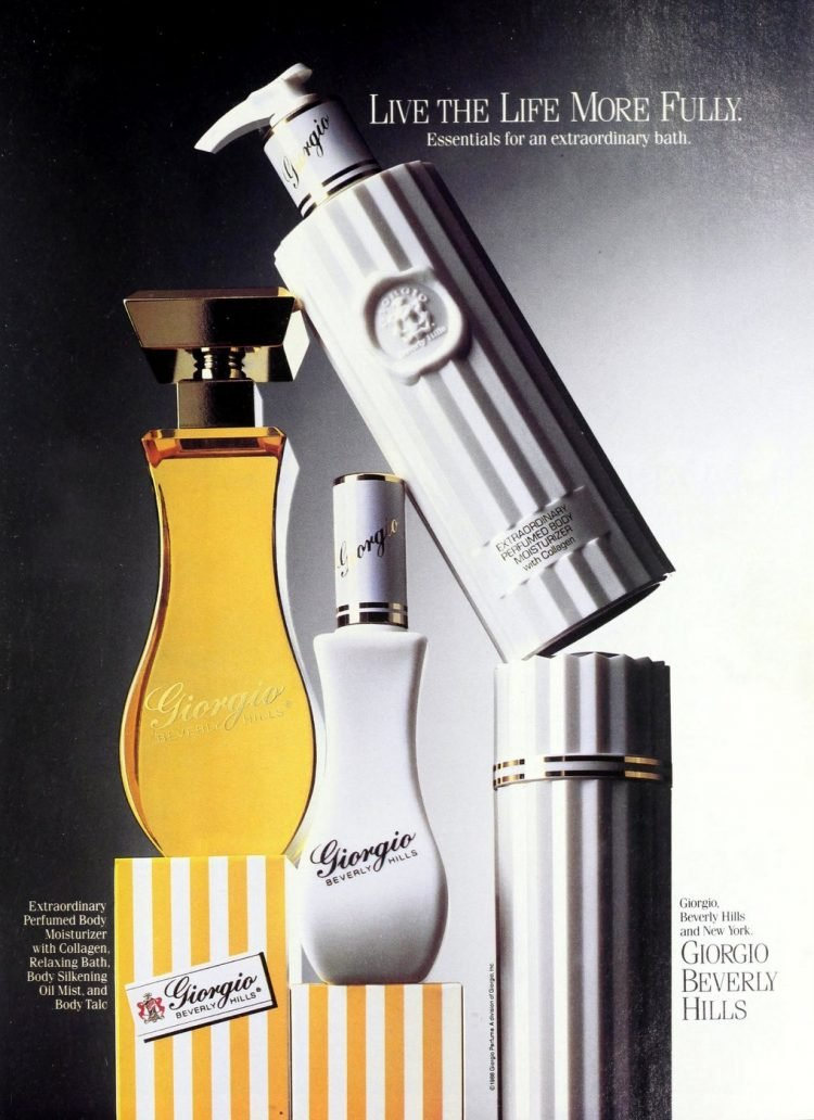 Giorgio Beverly Hills fragrance collection - 1988