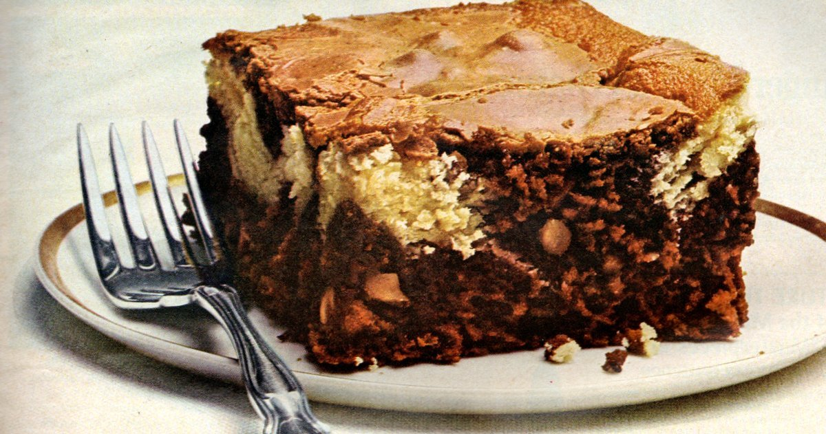 German chocolate cream cheese brownies (1967)