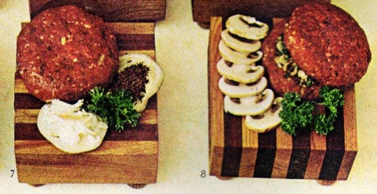 German hamburger and French burger - burger - Retro 60s recipes
