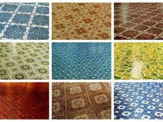 Get down with these groovy vinyl floors from the '70s