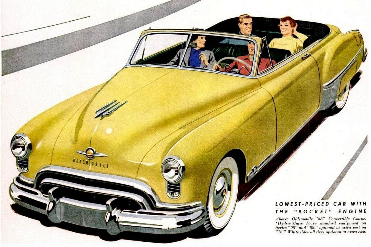 Get ready for Oldsmobile's 'new thrill' - Futuramic cars from the late '40s
