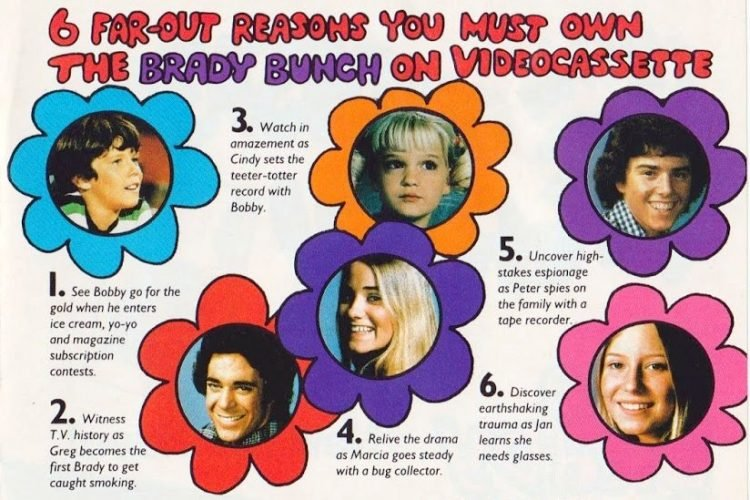 Get the Brady Bunch TV series on videocassette