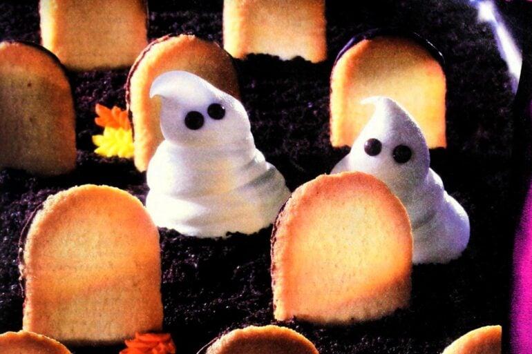 Ghosts in the Graveyard Halloween dessert recipe (1997)
