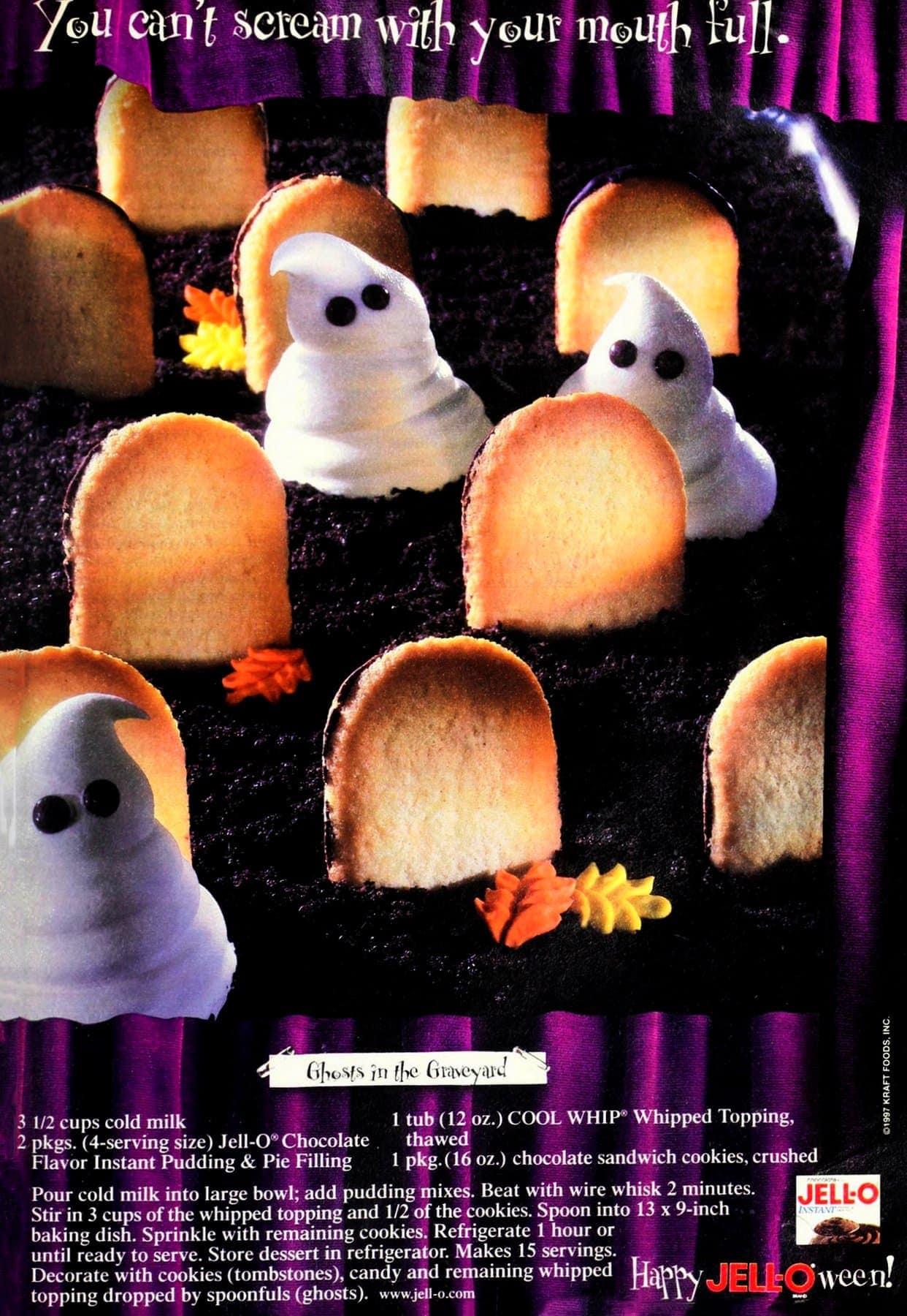 Ghosts in the Graveyard Halloween dessert recipe